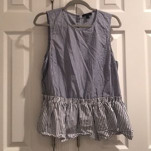 Jcrew sleeveless peplum blouse